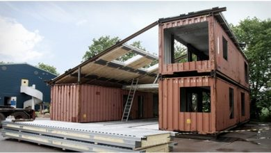 Photo of He Unites Three Large Containers And Builds A Villa With Amazing Interiors