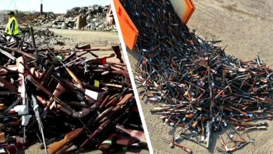 Photo of Belgium Melts More Than 22,000 Firearms And Turns Them Into Tons Of Steel.