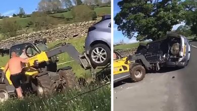 Photo of They Park Their Car In Front Of The Entrance To A Field: The Farmer Takes The Excavator And Takes Revenge.