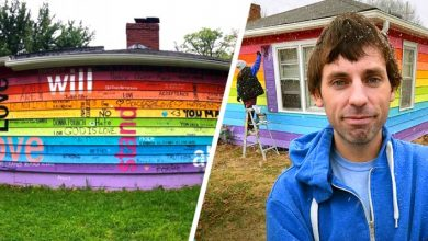 Photo of He Buys A House Opposite An Anti-gay Church And Paints It In Rainbow Colors.