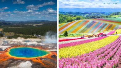 Photo of 11 Places On Earth Where Mother Nature Wanted To Unleash Her Entire Palette Of Colors.