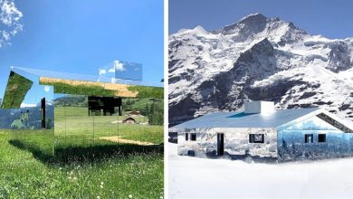 Photo of This House Is Covered With Mirrors: It Fits Perfectly Into The Landscape And Its Appearance Is Never The Same.