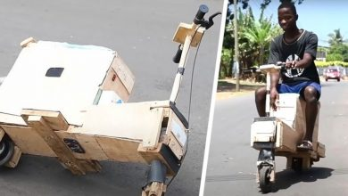 Photo of 17-year-old Boy Builds Solar Scooter From Scrap Wood.